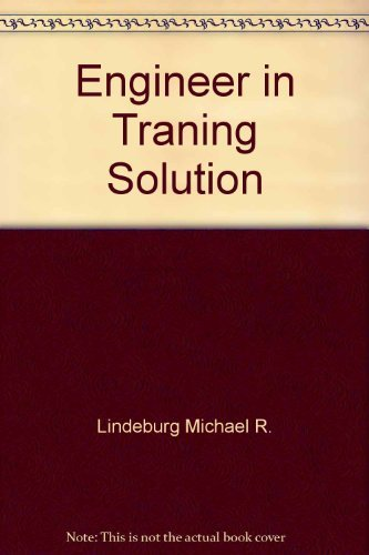 9780932276490: Solutions manual for the Engineer-in-training review manual: With sample examination