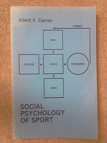 Social Psychology of Sport: Carron, Albert V.