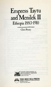 9780932415103: Empress Taytu and Menilek II: Ethiopia 1883-1910