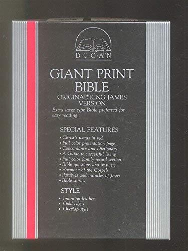 Giant Print Bible/Black/Image Buffalo Leather/Stock No 710