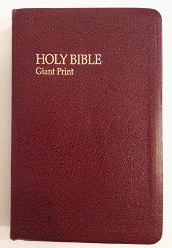 Giant Print Bible/Burgundy/Genuine Bonded Leather/Stock No 7712