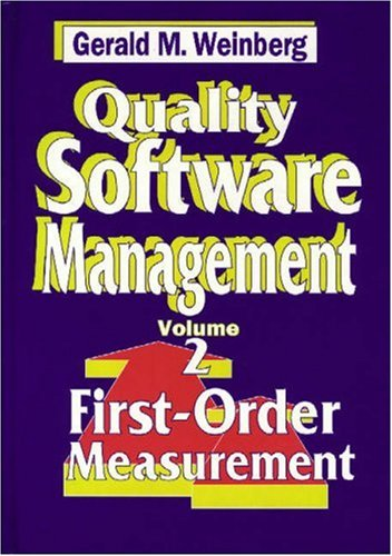 9780932633248: 2: Quality Software Management: First-Order Measurement