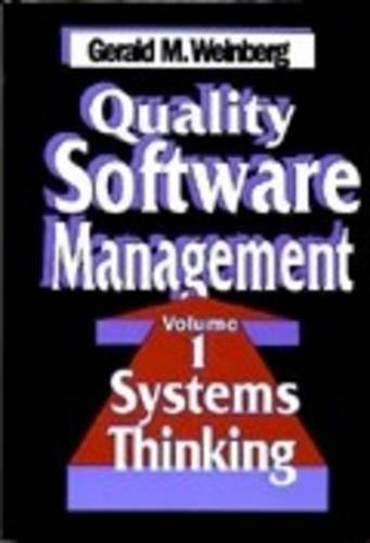 9780932633729: Quality Software Management: Systems Thinking