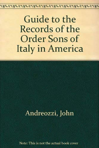 Guide to the Records of the Order: John Andreozzi
