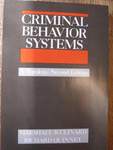 9780932930705: Criminal Behavior Systems: A Typology