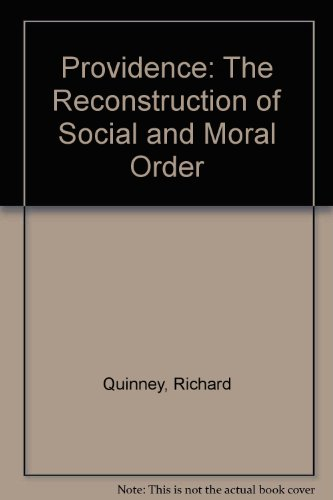 9780932930729: Providence: The Reconstruction of Social and Moral Order