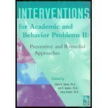 9780932955876: Interventions for Academic and Behavior Problems 2: Preventive and Remedial Approaches