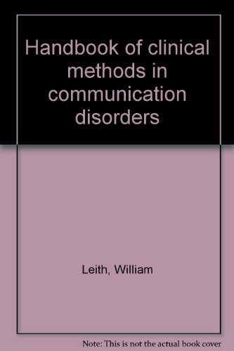 9780933014916: Handbook of clinical methods in communication disorders