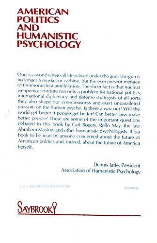 9780933071001: American politics and humanistic psychology