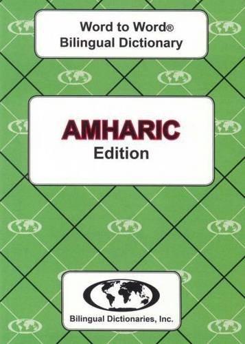 9780933146594: English-Amharic & Amharic-English Word-to-word Dictionary