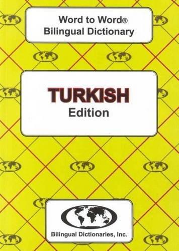 English-Turkish Turkish-English Word-to-Word Dictionary: Suitable for Exams