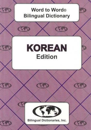 English-Korean & Korean-English Word-to-Word Dictionary: Suitable for Exams: Sesma, C.; ...