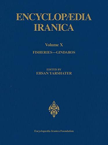 Encyclopaedia Iranica, Volume 10 Fisheries - Gindaros
