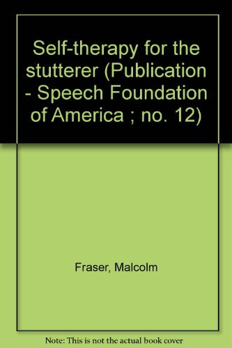 9780933388109: Self-therapy for the stutterer (Publication - Speech Foundation of America ; no. 12)