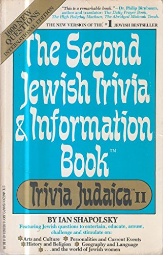 Second Jewish Trivia and Information Book: Ian Shapolsky