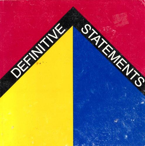 Definitive Statements: American Art, 1964-66