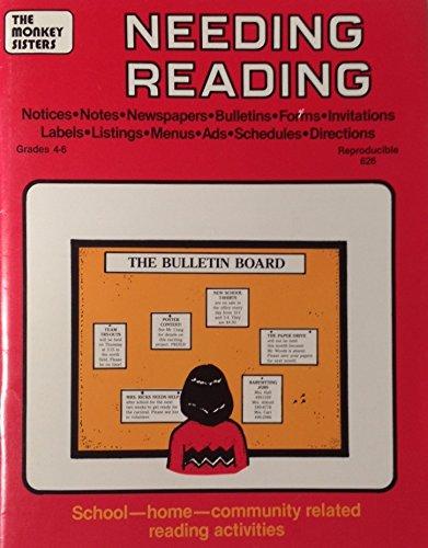 9780933606289: Needing Reading, Grades 4-6