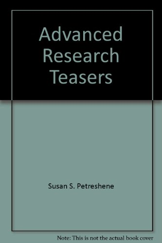 9780933606364: Advanced Research Teasers