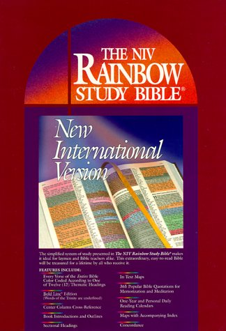 9780933657229: The Rainbow Study Bible New International Version: Genuine Bonded Leather Indexed