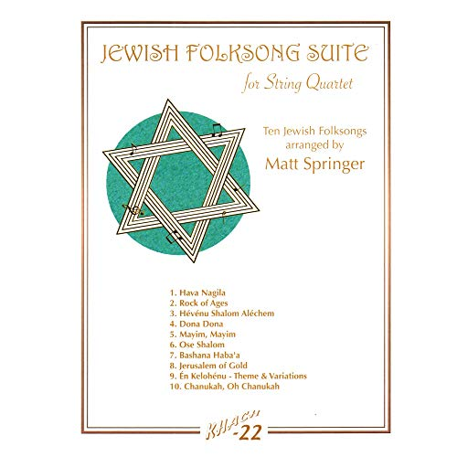 9780933676473: JEWISH FOLKSONG SUITE FOR STRING QUARTET PARTS SOFTCOVER