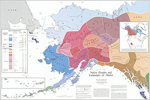 9780933769007: Native Peoples and Languages of Alaska: Map