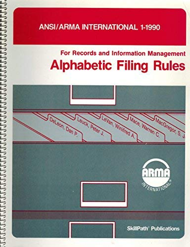 9780933887008: Alphabetic Filing Rules (Arma International's Standards Filing Systems Subcommittee)