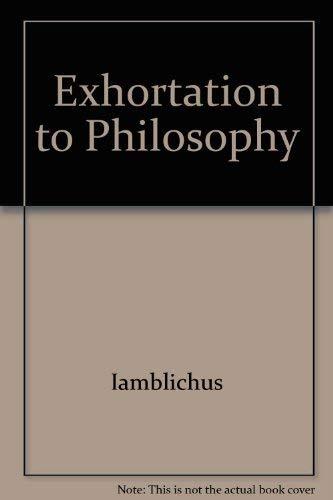 9780933999626: Exhortation to Philosophy