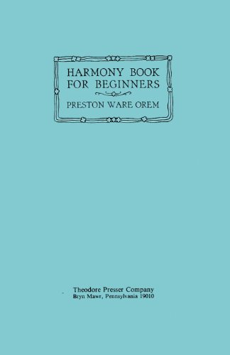 9780934009898: Harmony Book for Beginners