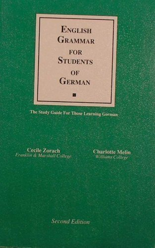 9780934034142: English Grammar for Students of German: The Study Guide for Those Learning German (English Grammar for Students of Other Languages)