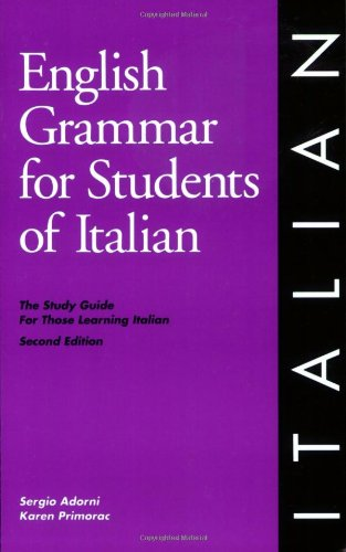 9780934034203: English Grammar for Students of Italian
