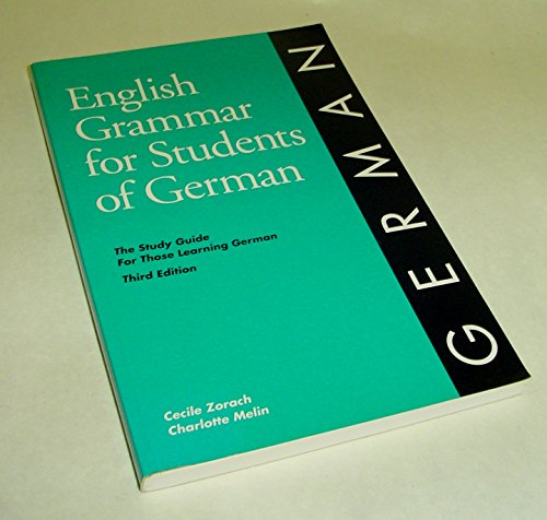9780934034234: English Grammar for Students of German: The Study Guide for Those Learning German