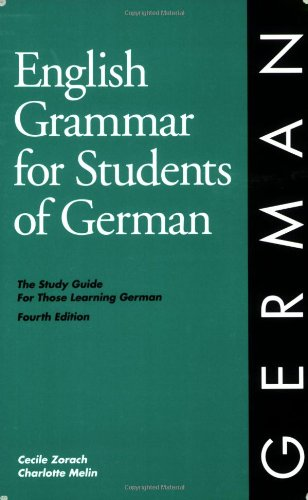 9780934034319: English Grammar for Students of German: The Study Guide for Those Learning German