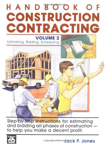 9780934041133: Handbook of Construction Contracting: Estimating, Bidding, Scheduling, Vol. 2