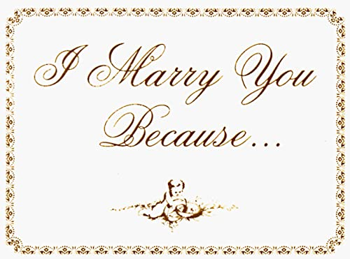 I Marry You Because. . . (0934081158) by Peter McWilliams