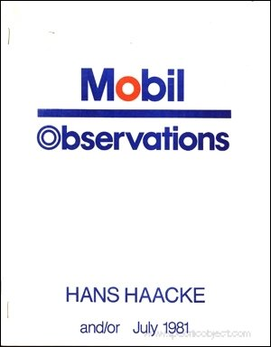 Mobil observations (9780934198189) by Hans Haacke