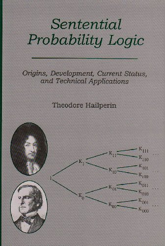 9780934223454: Sentential Probability Logic: Origins, Development, Current Status, and Technical Applications