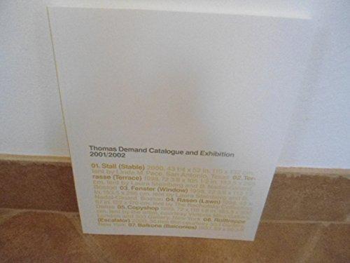 Thomas Demand Catalogue and Exhibition 2001/2002- signiert: Demand, Thomas