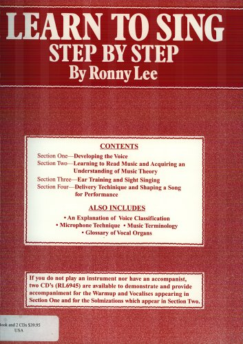 Learn to Sing Step by Step: Lee, Ronny; Lee, Frances