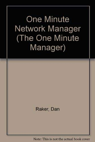 9780934605717: One Minute Network Manager (The One Minute Manager)