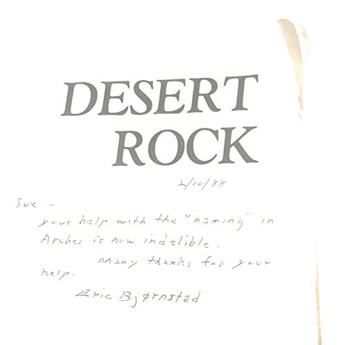 9780934641074: Desert Rock: A Climber's Guide to the Canyon Country of the American Southwest Desert