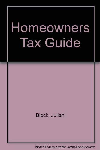 Homeowners Tax Guide: Julian Block