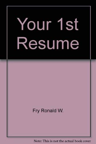 9780934829250: Your 1st Resume