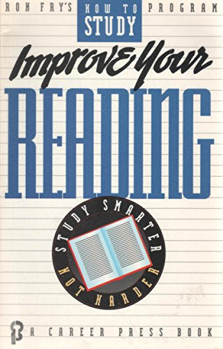 9780934829908: Improve Your Reading (Ron Fry's How to Study Program)