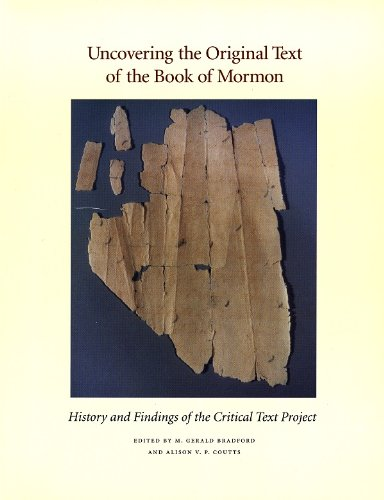 9780934893688: Uncovering the Original Text of the Book of Mormon: History and Findings of the Critical Text Project