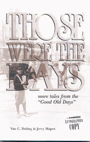 Those Were the Days : More Tales: Jerry Mapes; Van