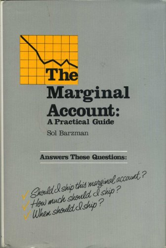Marginal Account: A Practical Guide: Barzman, Sol