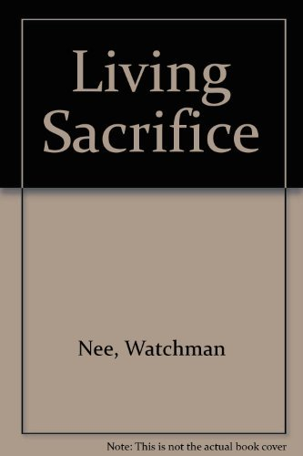 9780935008074: Living Sacrifice