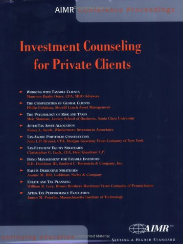 9780935015379: Investment Counseling for Private Clients