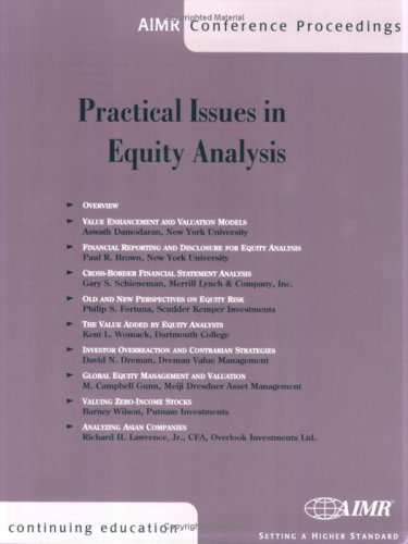 9780935015454: Practical Issues in Equity Analysis