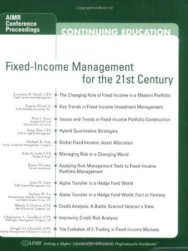 Fixed-Income Management for the 21st Century: Aimr: Asay, Michael R./